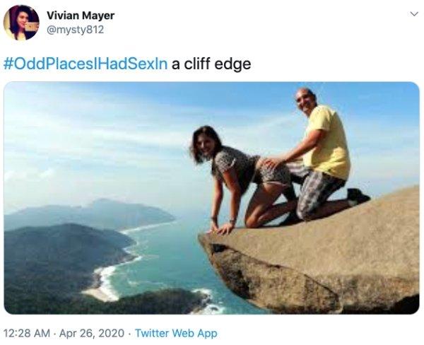 """OddPlacesIHadSexIn"" Tweets (35 pics)"