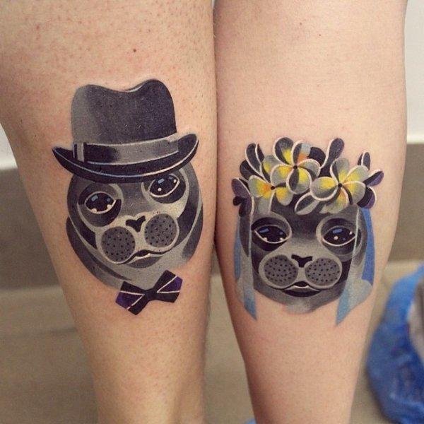 Pair Tattoos (37 pics)