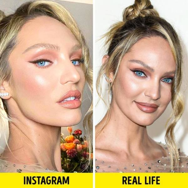 Celebrities: Instagram Vs. Real Life (19 pics)