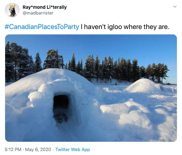 #CanadianPlacesToParty Tweets (23 pics)