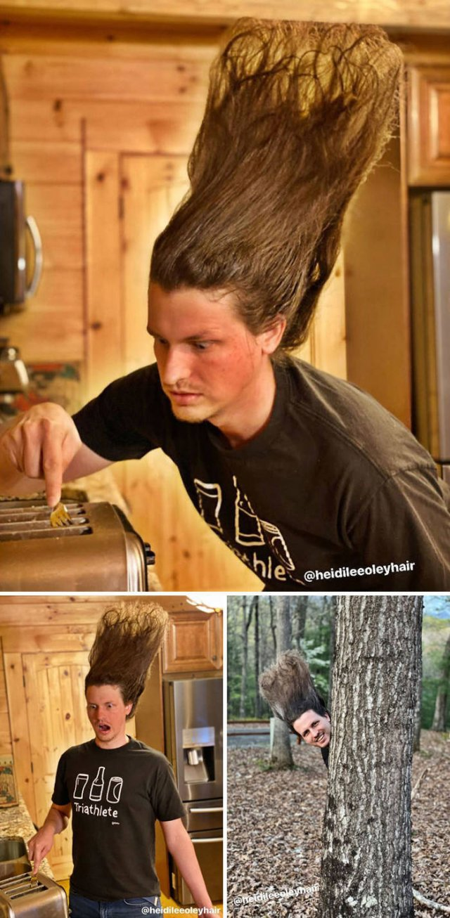 This Guy Has A Lot Of Quarantine Hairstyles (21 pics)