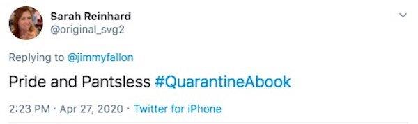 #QuarantineABook Tweets (30 pics)