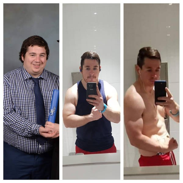 Men Show Their Great Weight Loss (20 pics)