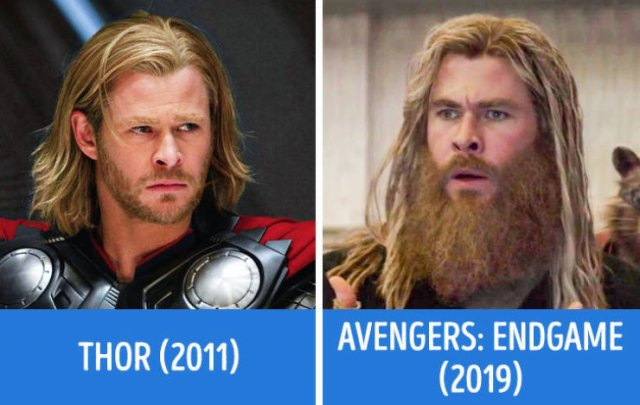 """Avengers"" In Their First And Last Movies (21 pics)"