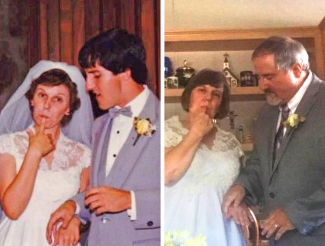 Sweet Couples: Then And Now (22 pics)