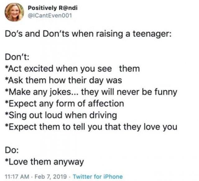 Raising Teenagers Tweets (20 pics)