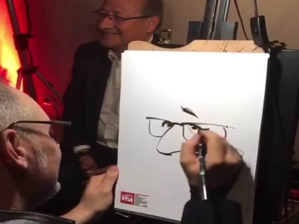 Cartoonist Doing His Job