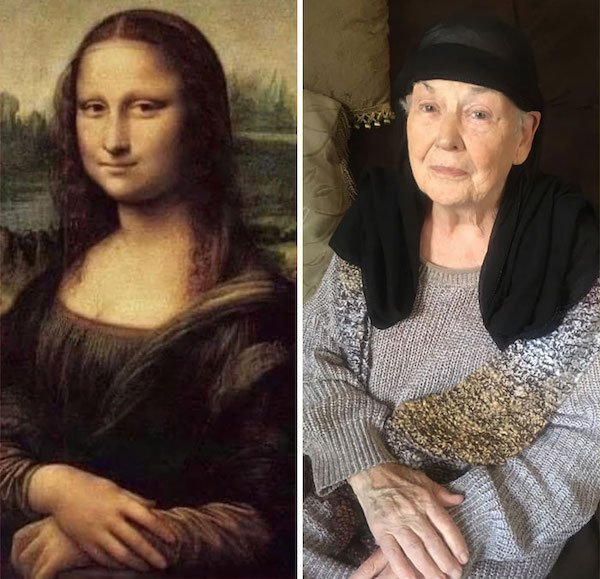 This 83-Year-Old Woman Does Art Recreation (17 pics)
