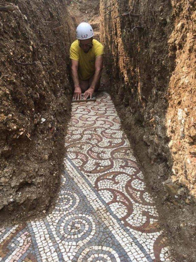 Roman Mosaic Floor Was Recently Discovered Outside Verona (28 pics)