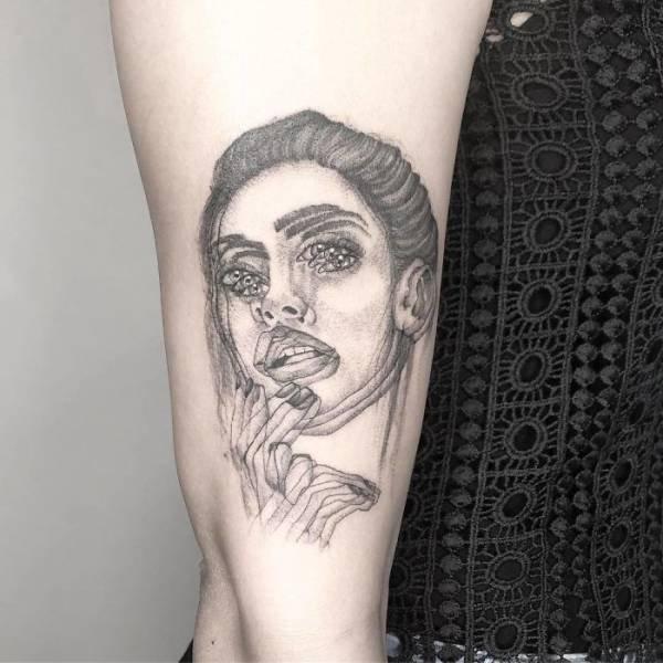 Blurred Tattoos By Yatzil Elizalde (23 pics)