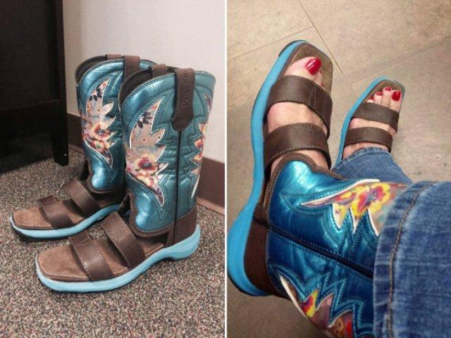 Weird Cowboy Boot Sandals Trend (21 pics)