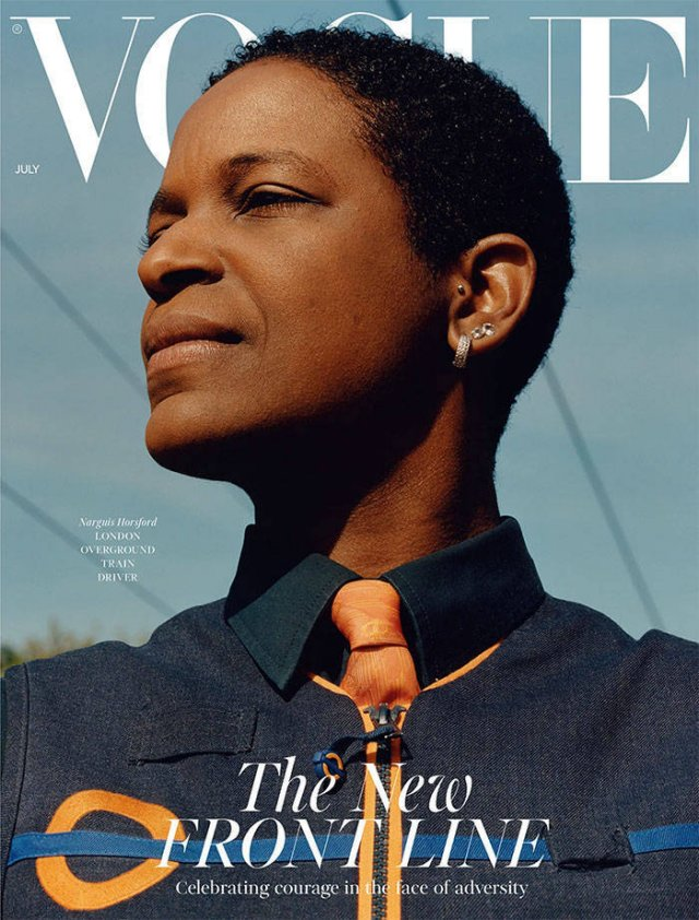 'Vogue' Covers With Essential Workers Instead Of Celebrities (14 pics)
