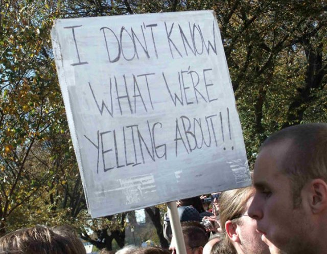 Protesters Signs (21 pics)