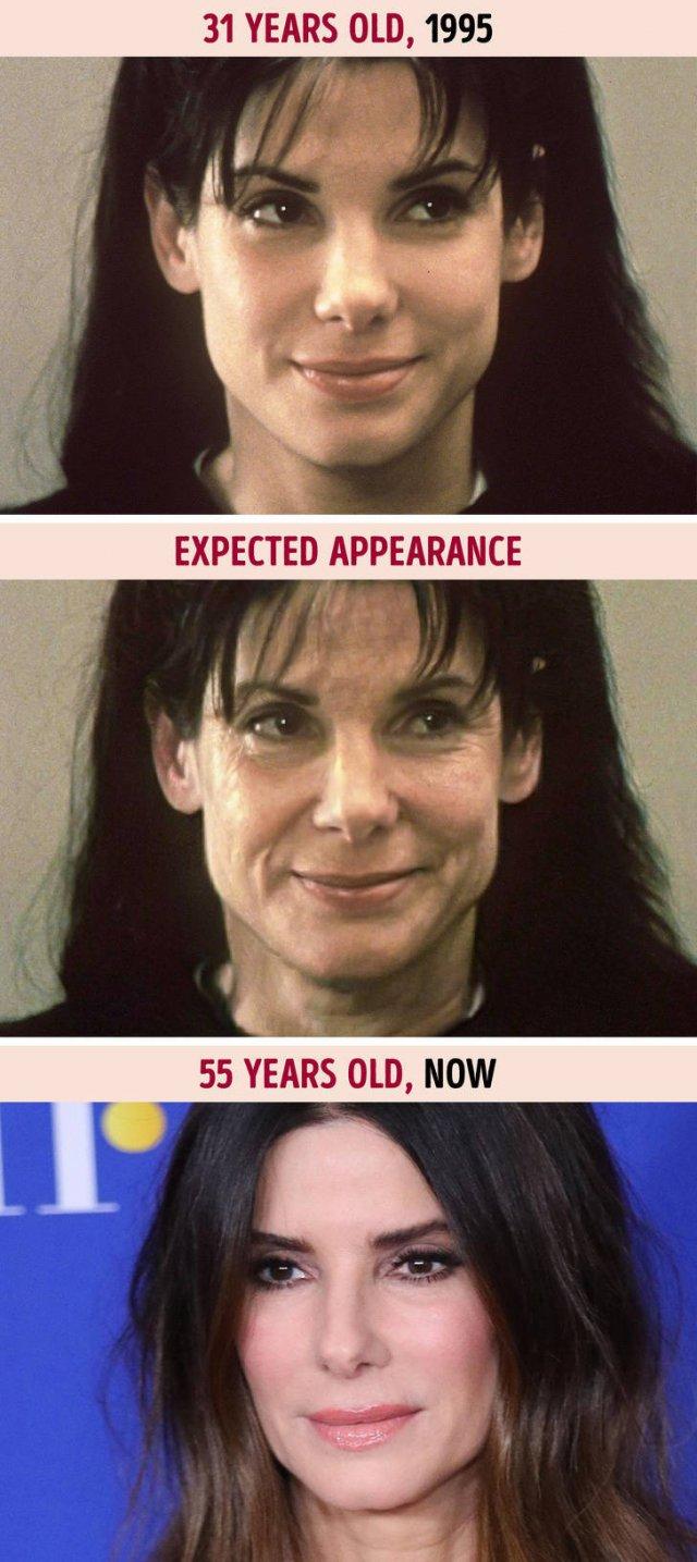 If Celebrities Aged Like Common People (10 pics)
