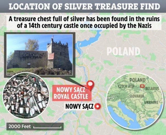 World War II Treasure Found Among The Ruins Of A XIV-Century Castle (14 pics)