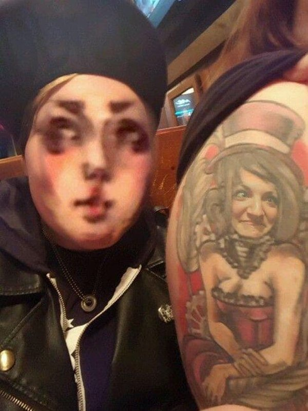 Face-Swapping Tattoos (28 pics)