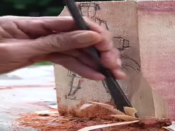 The Way He Carves The Wood