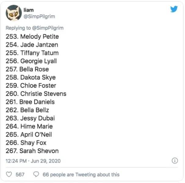 This Guy Ranked 370 Pornstars (24 pics)