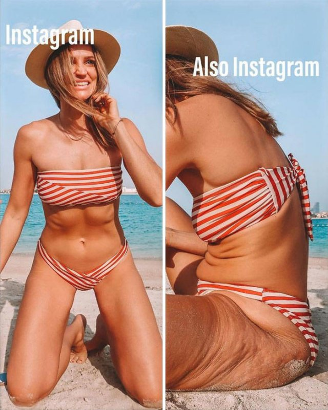 33-Year-Old Woman Shows Reality Behind Instagram Pictures (30 pics)