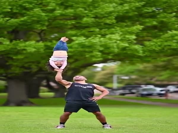 When Father Is A Professional Acrobat