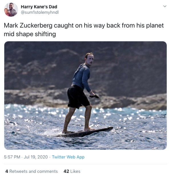 Mark Zuckerberg Surfing Face (24 pics)
