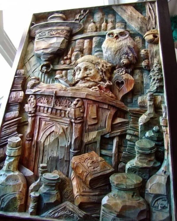 Wooden Art By Evgeny Dubovik (32 pics)