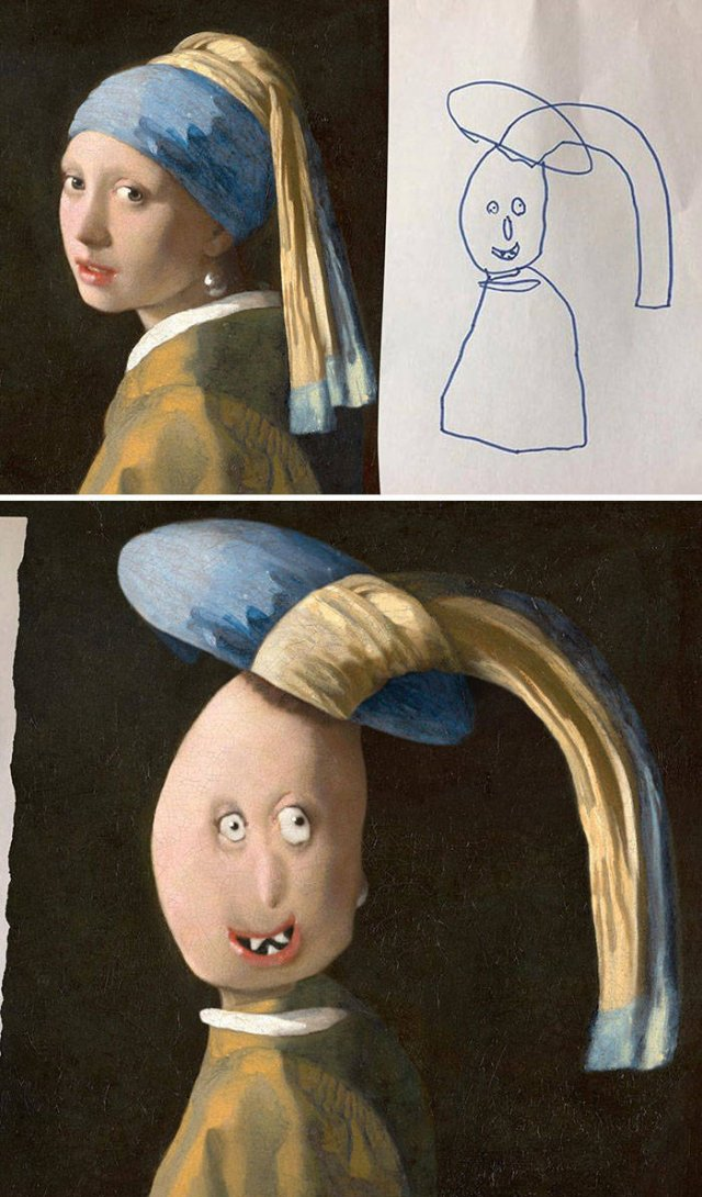 Dad Photoshopped Kids' Drawings (29 pics)