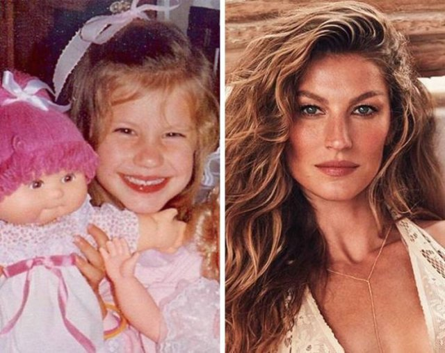 Models: When They Were Kids And Now (10 pics)