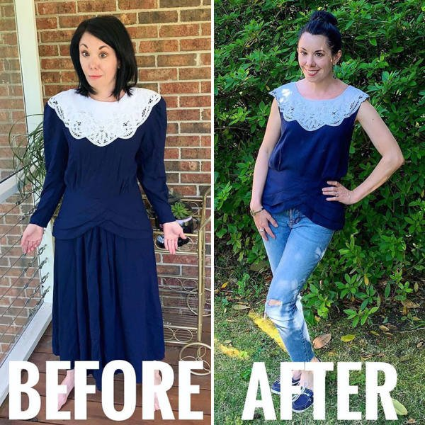 This Woman Transforms Thrift Store Clothes Into Fashion Outfits (30 pics)