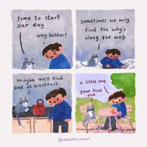 Heartwarming Watercolor Comics (20 pics)