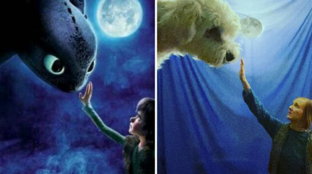 This Couple Recreates Famous Movies And TV Series Scenes And Posters (29 pics)