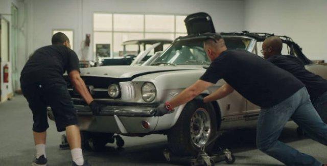 Jason Momoa Restored His Wife's 1965 Mustang (42 pics)