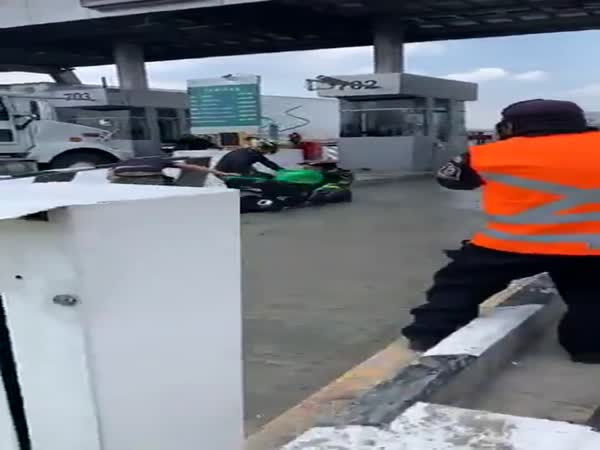 What Could Go Wrong Trying To Sneak Through The Closed Toll Lane
