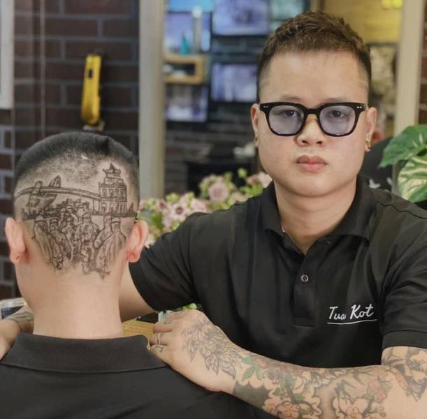 This Vietnamese Hair Stylist Creates Real Art On Client's Heads (18 pics)