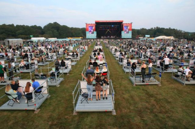 First Socially Distanced Concert In The World (10 pics)