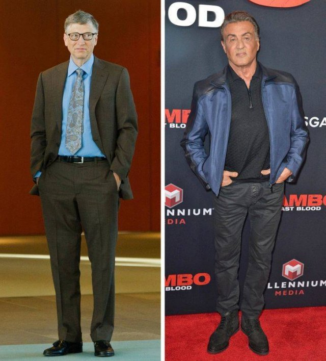 Celebrities And Their Height (24 pics)