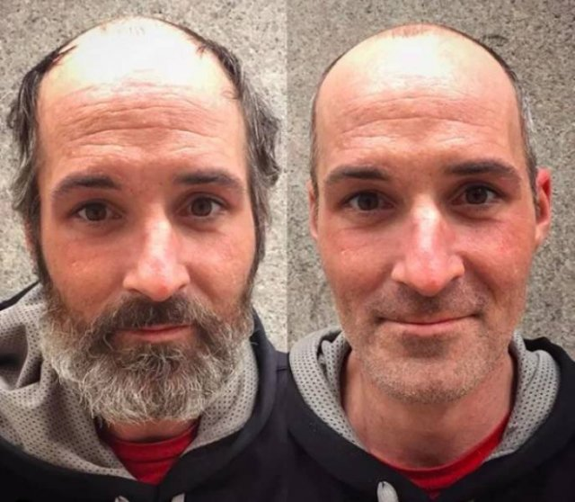 This Hairdresser Gives Homeless People Free Hairstyles (32 pics)