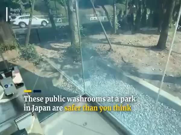 Transparent Toilets In Japan