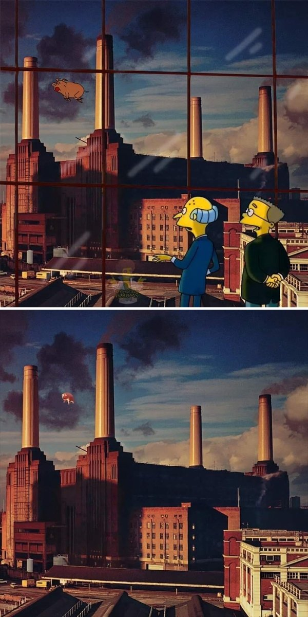 Famous Music Album Covers Improved By 'The Simpsons' (64 pics)