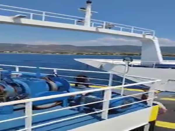 A Ferry Rescued A Young Girl They Spotted In The Sea Of Greece