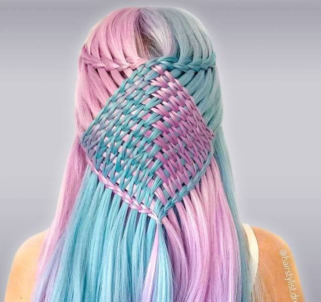 Crocheted Hairstyles By 17-Year-Old Hairstylist (16 pics)