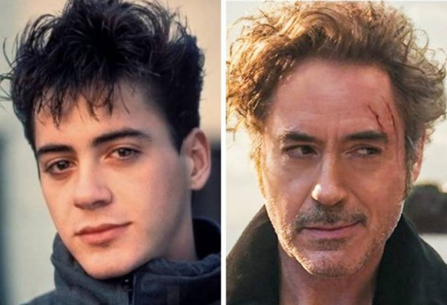 Famous Actors: In Their First Movie And Now (19 pics)