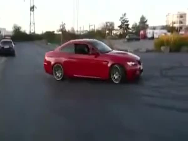 BMW Burnout Gone Wrong
