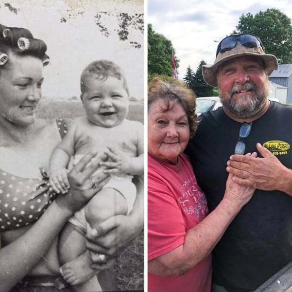Family Photo Recreations (17 pics)