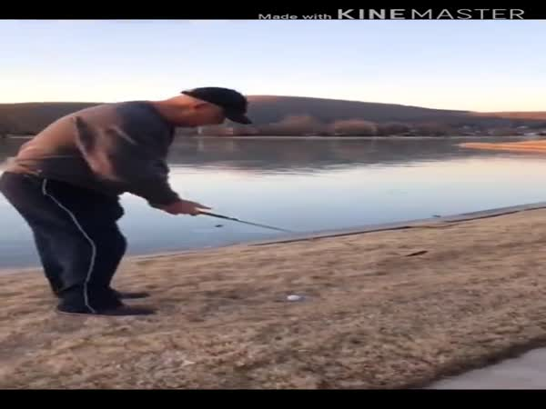 Sound Of Golf Ball On Frozen Lake