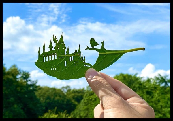 Leaf Carvings By Japanese Artist (42 pics)