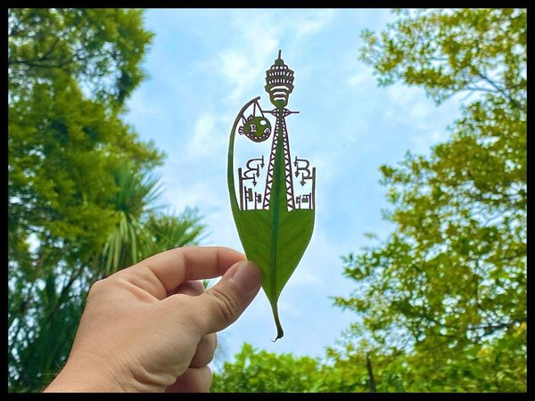 Leaf Carvings By Japanese Artist (41 pics)