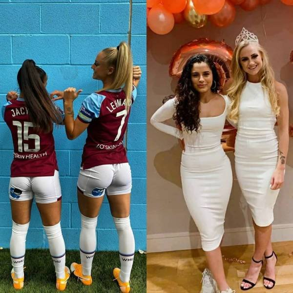 Girls With And Without Uniform (35 pics)
