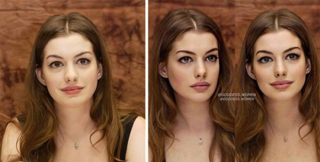 How Celebrity Faces Would Look Like According To Modern Beauty Standards (30 pics)