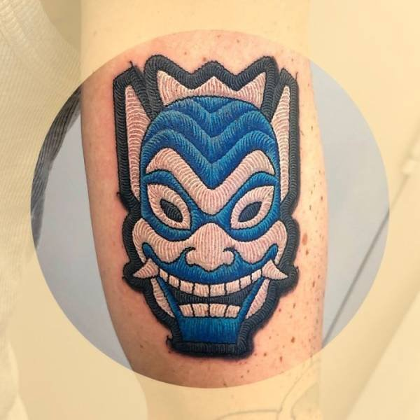 Tattoos That Look Like Sewn-On Patches (29 pics)